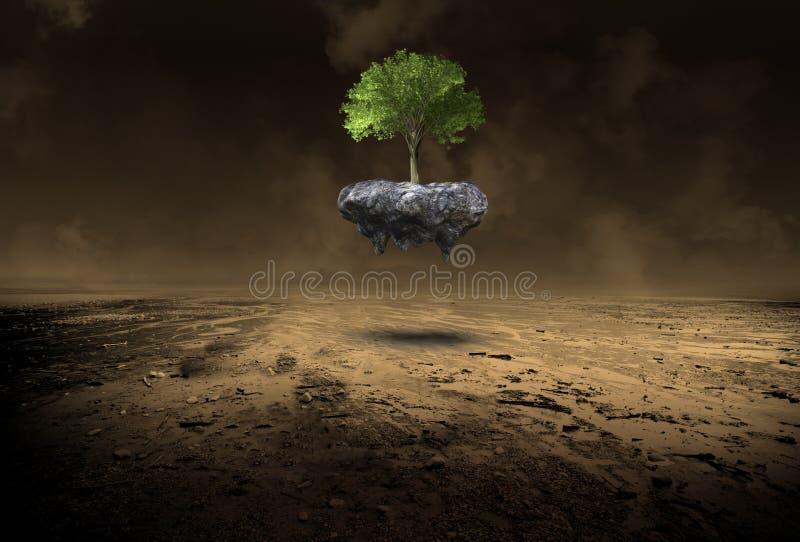 Ambiente, ambientalismo, árvore, deserto, natureza, surreal fotografia de stock