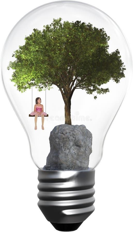 Ambiente, ambientalismo, árvore, menina, isolada, natureza foto de stock royalty free
