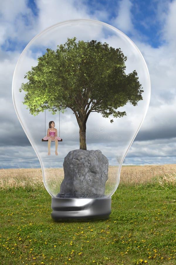 Ambiente, ambientalismo, árvore, menina, natureza fotos de stock royalty free