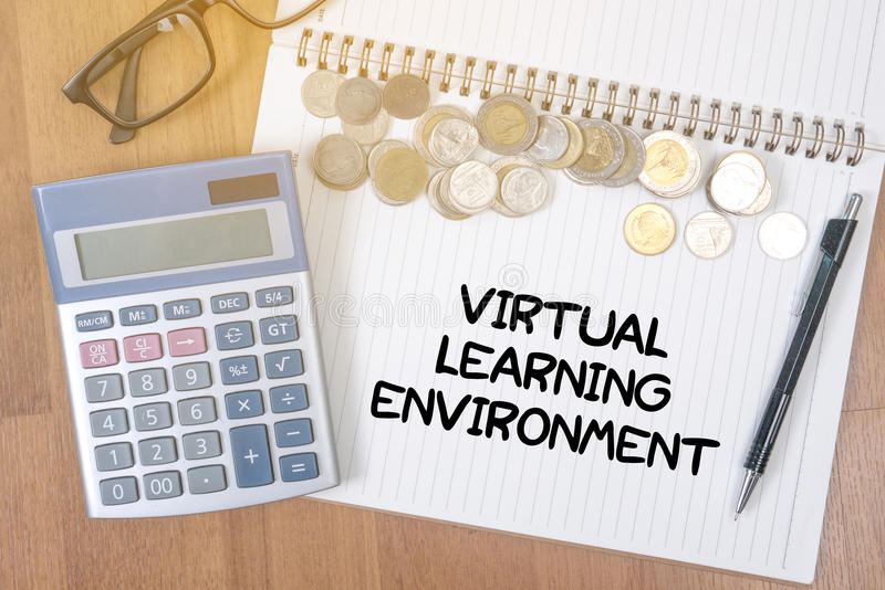 Ambiente de aprendizagem virtual fotografia de stock royalty free