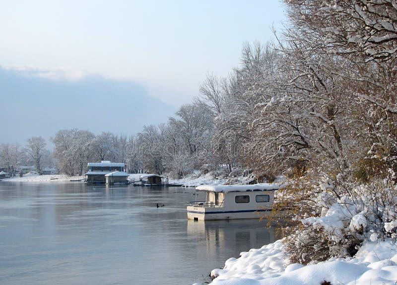 Ambiente de Danubio del río, Futog Serbia foto de archivo