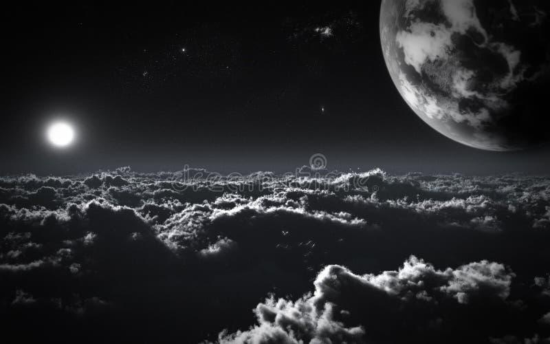 Ambiente de la ciencia ficción ilustración del vector