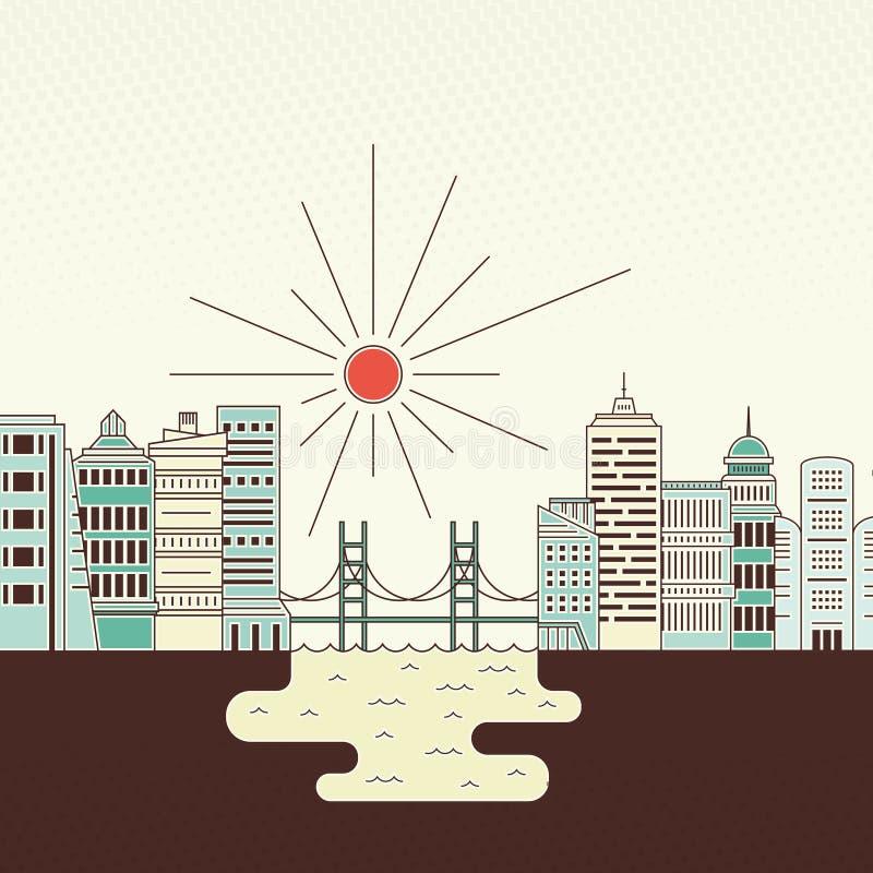 Ambiente della città royalty illustrazione gratis