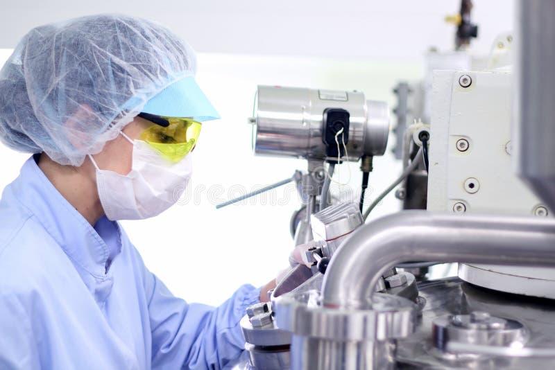 Ambiente estéril - fábrica farmacéutica imagen de archivo libre de regalías