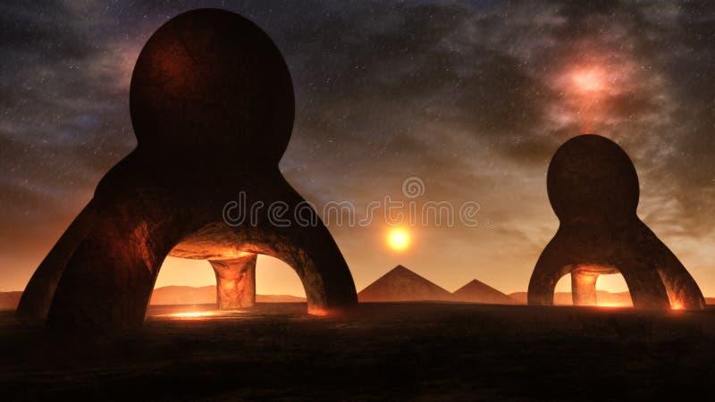Ambiente extraño del planeta ilustración del vector