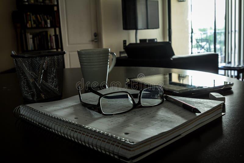 Ambiente familiare per lo studio/che lavora fotografia stock libera da diritti