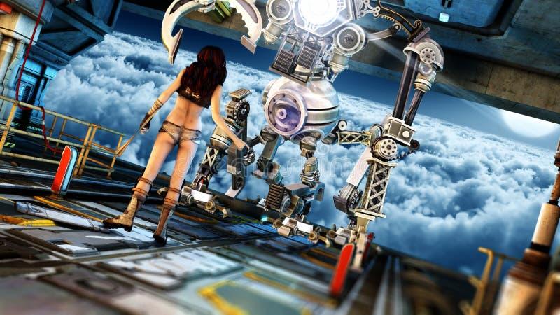 Ambiente futurista de la ciencia ficción stock de ilustración