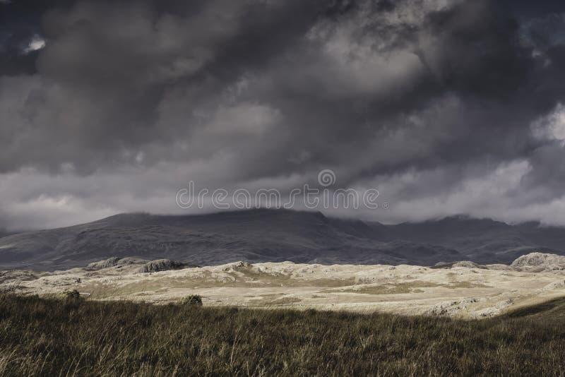 Ambiente incontaminato del distretto del lago, Cumbria, Regno Unito fotografia stock libera da diritti