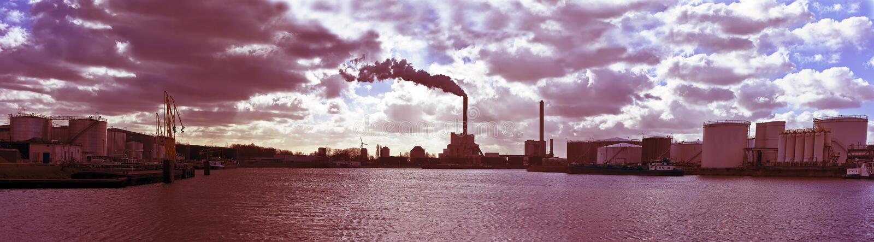 Ambiente industrial cerca de Países Bajos de Amsterdam fotos de archivo libres de regalías