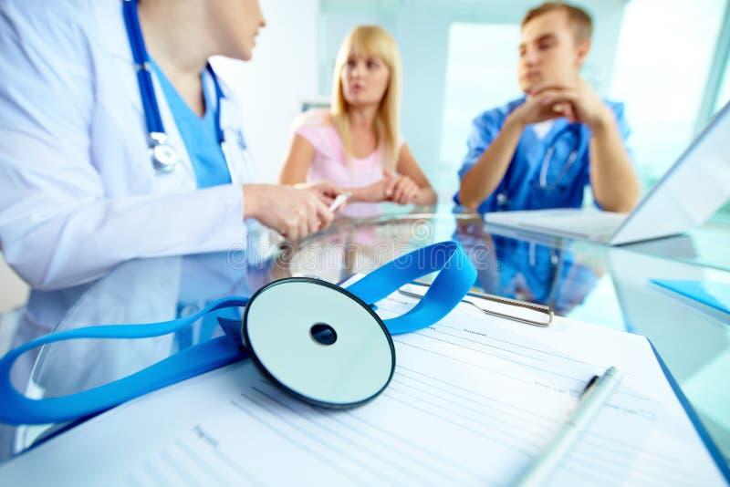 Ambiente médico imagem de stock