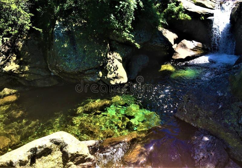 Ambiente, naturaleza y cascada imagenes de archivo
