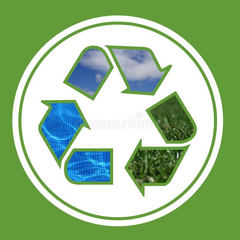 Ambiente - recicle stock de ilustración