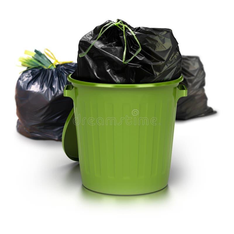 Ambiente verde do lixo imagens de stock royalty free