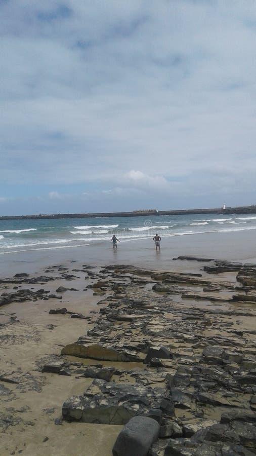 Ambientes de la playa imagen de archivo
