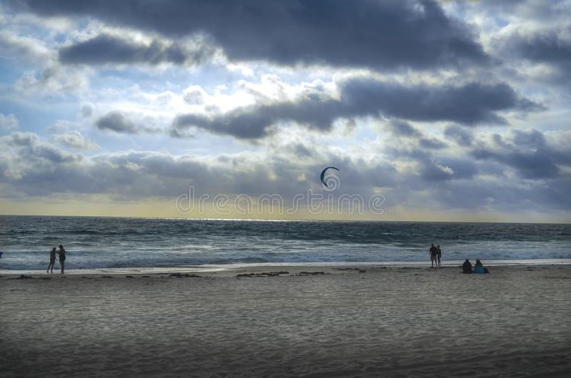 Ambientes de la playa fotografía de archivo