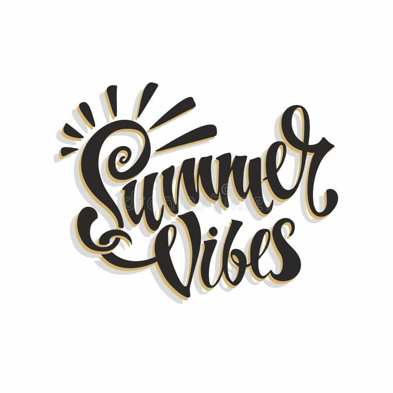 Ambientes del verano deletreado tarjeta calligraphy Inscripción inspirada elegante Vector libre illustration