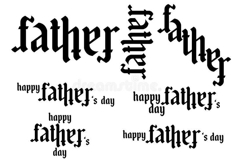 Ambigram -父亲-父亲` s天 库存图片