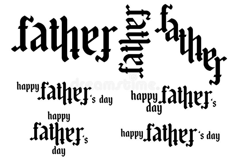 Ambigram -Father -Father`s day stock image