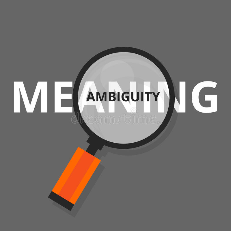 Free Ambiguity Ambiguous Search Find Above Real Meanings Vague Puzzled Royalty Free Stock Images - 73020399