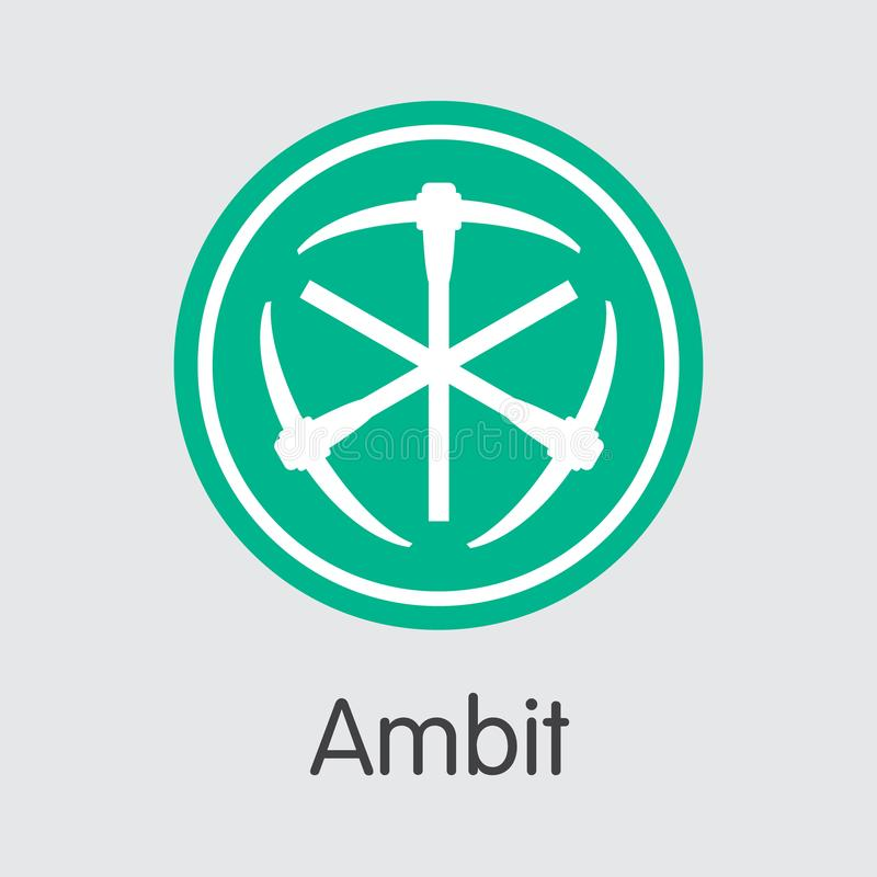 ambit cryptographic currency vector ambt web icon stock vector rh dreamstime com