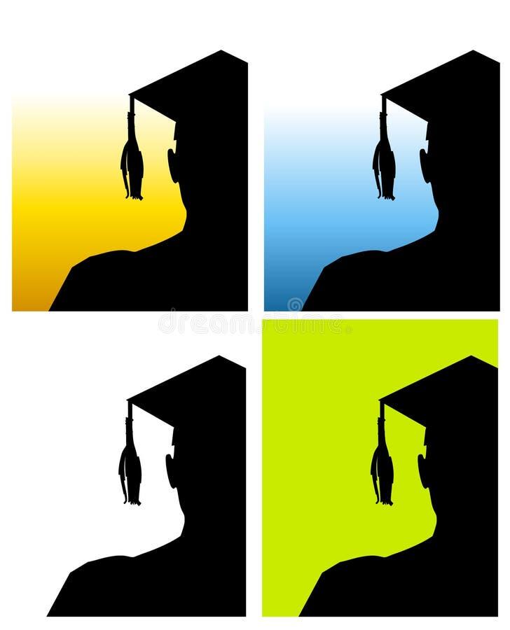 Ambiti di provenienza 2 del cappello di graduazione illustrazione vettoriale