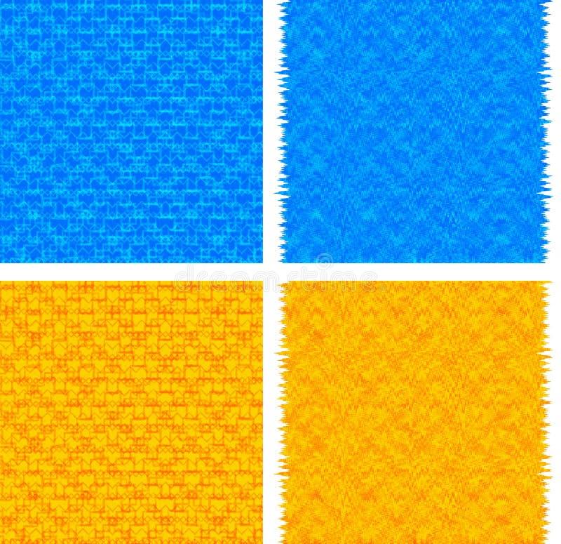 Ambiti di provenienza astratti blu ed arancio royalty illustrazione gratis