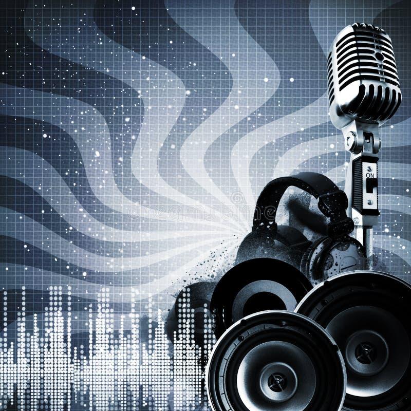 Ambiti di provenienza astratti del DJ illustrazione di stock