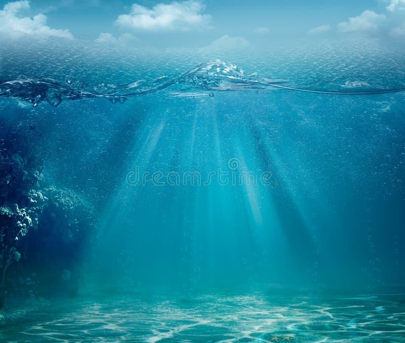 Ambiti di provenienza astratti dell'oceano e del mare fotografie stock libere da diritti
