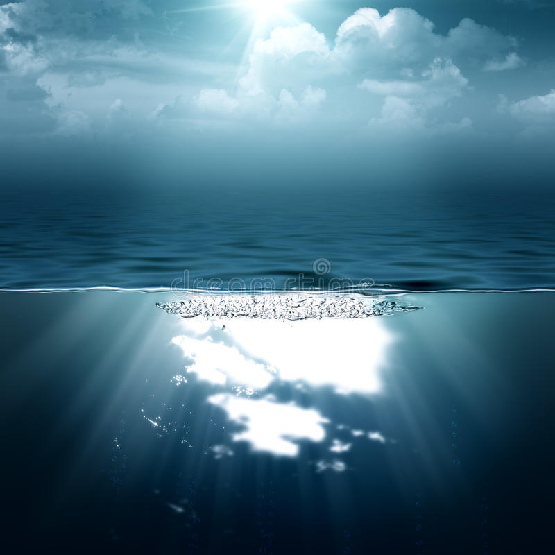 Ambiti di provenienza astratti dell'oceano e del mare immagini stock