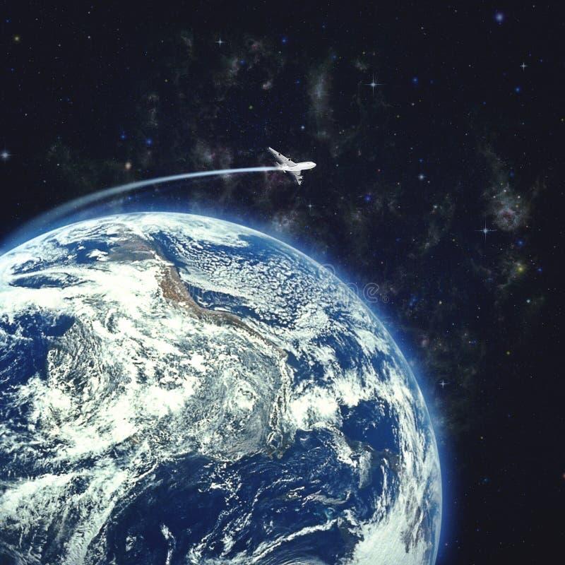 Ambiti di provenienza astratti di scienza e di viaggio illustrazione di stock