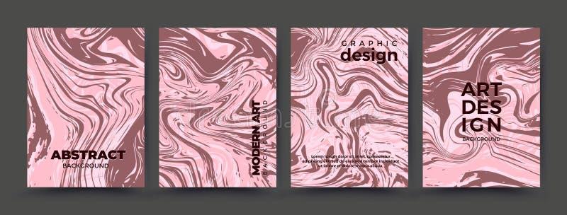 Ambiti di provenienza astratti messi con struttura di marmo rosa illustrazione di stock