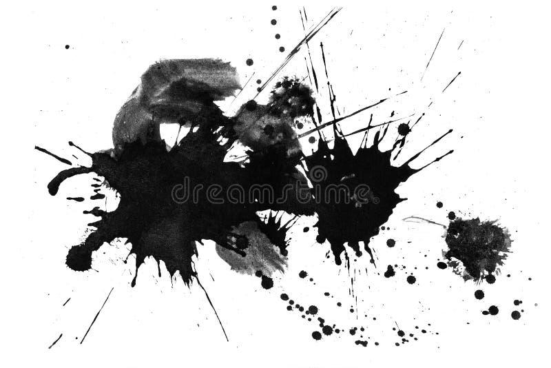 Ambiti di provenienza di astrattismo: Dipinto a mano dei colpi e dello spl della spazzola illustrazione di stock