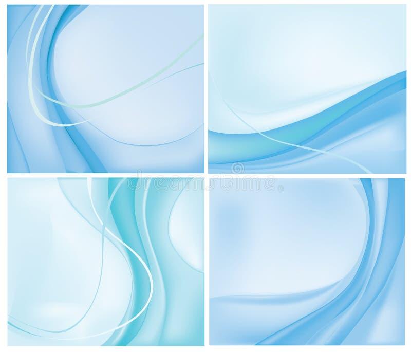 Ambiti di provenienza blu royalty illustrazione gratis