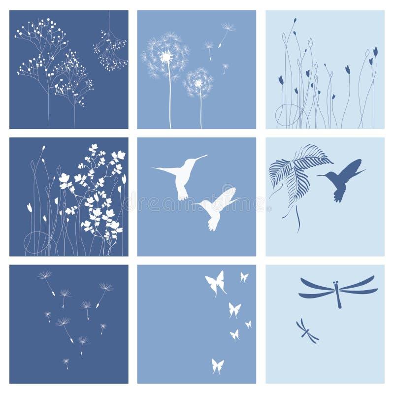 Ambiti di provenienza blu della natura illustrazione vettoriale