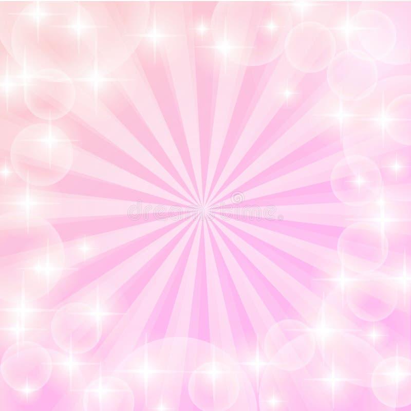 Ambiti di provenienza brillanti rosa per progettazione Il retro fondo d'annata astratto del sole brillante rays Sun Amore sunburs royalty illustrazione gratis