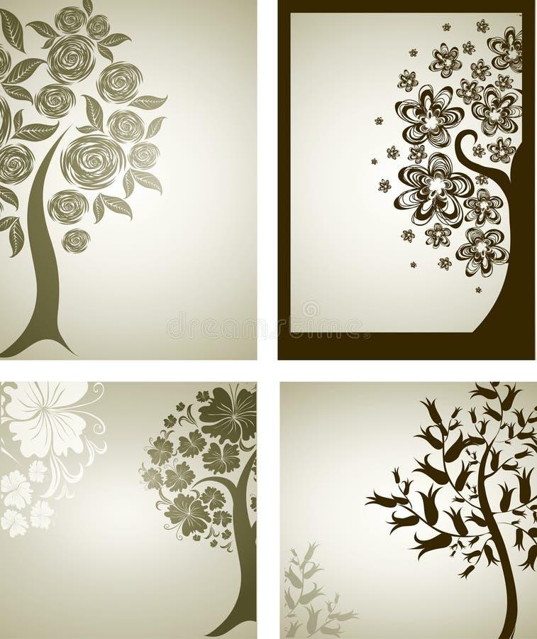 Ambiti di provenienza con l'albero decorativo dai fiori
