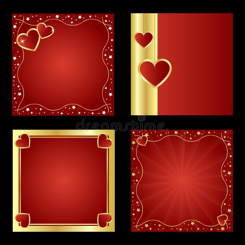 Ambiti di provenienza del biglietto di S. Valentino royalty illustrazione gratis