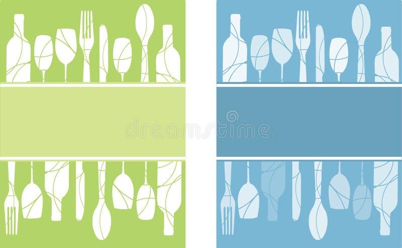 Ambiti di provenienza del menu illustrazione vettoriale