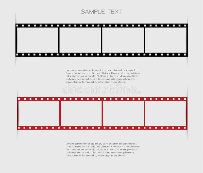 Ambiti di provenienza della striscia di pellicola illustrazione vettoriale