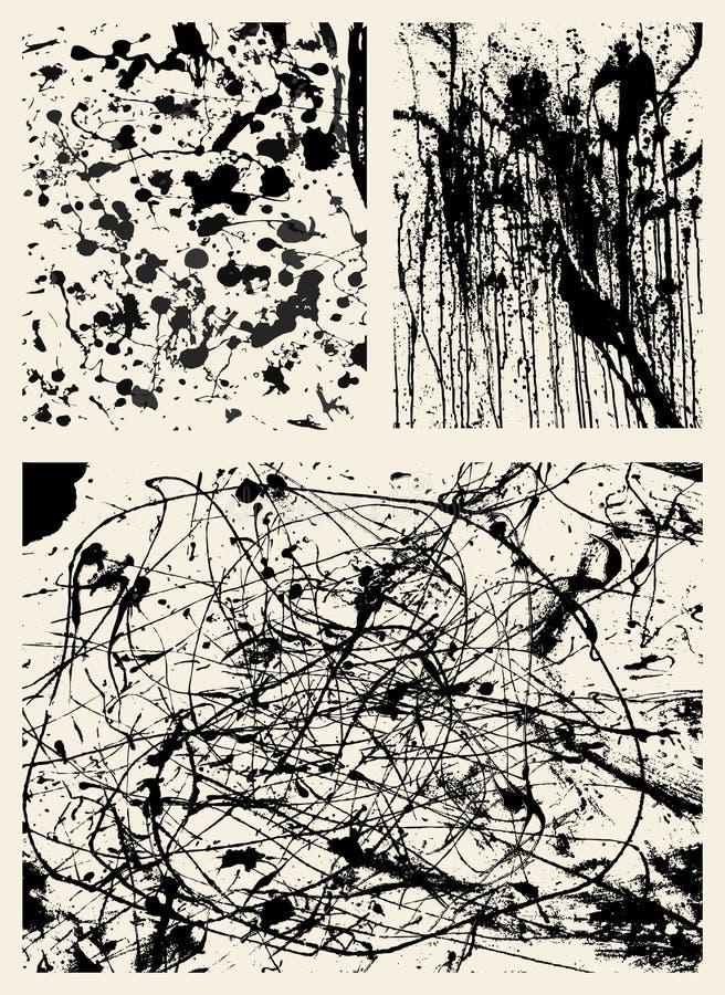 Ambiti di provenienza dello Splatter illustrazione vettoriale