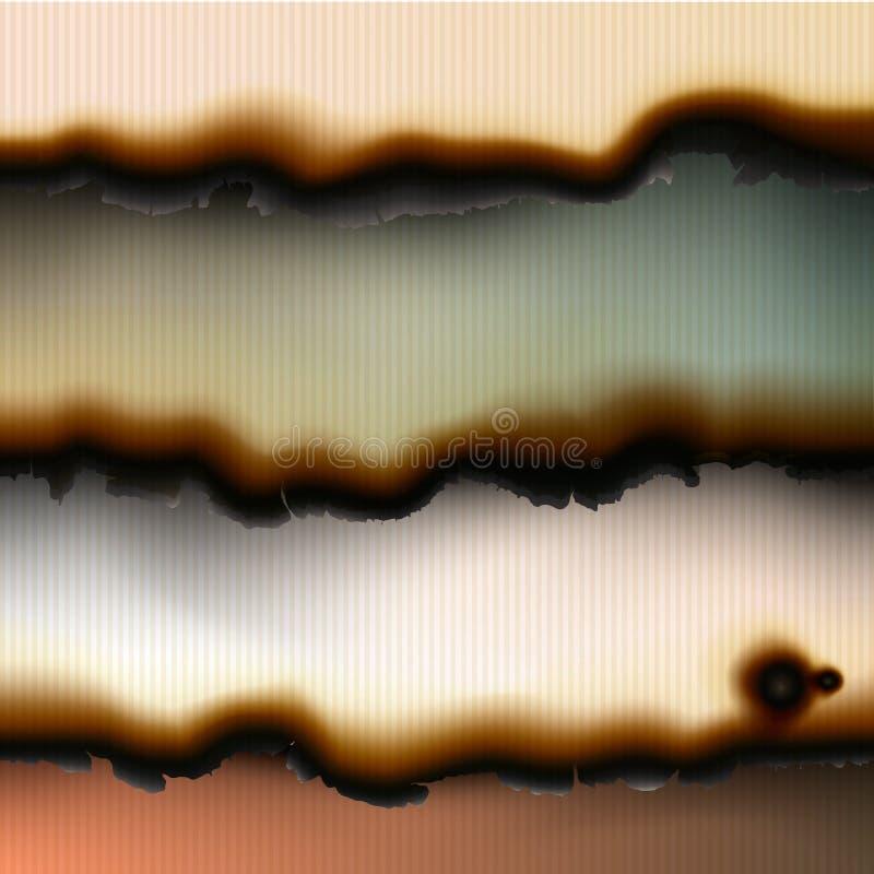 Ambiti di provenienza di carta bruciati annata illustrazione vettoriale