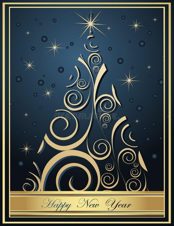 Ambiti di provenienza di nuovo anno felice illustrazione di stock