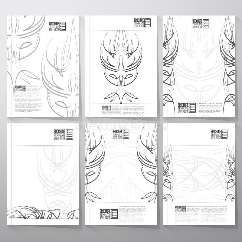Ambiti di provenienza di progettazione del gessato Opuscolo, aletta di filatoio o royalty illustrazione gratis
