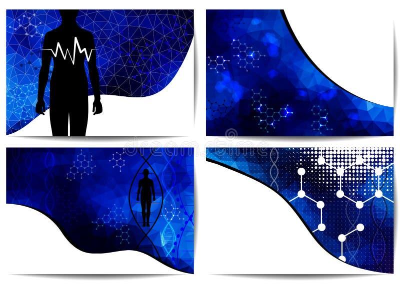 Ambiti di provenienza di ricerca di scienza royalty illustrazione gratis