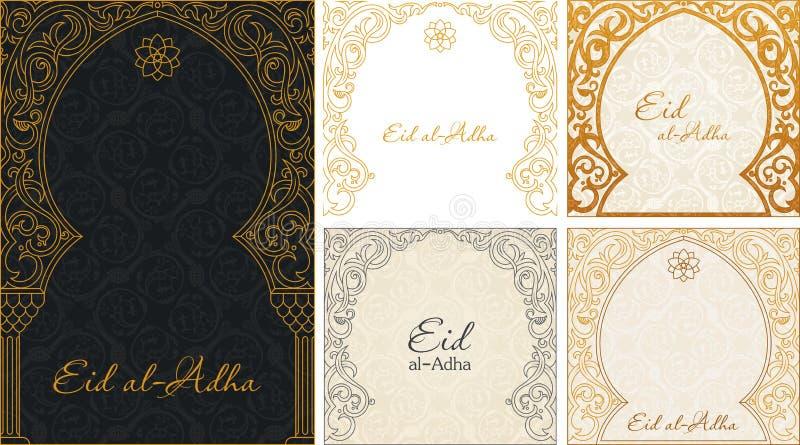 Ambiti di provenienza di saluti di Eid al Adha messi royalty illustrazione gratis
