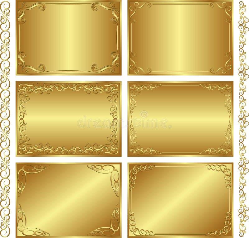 Ambiti di provenienza dorati illustrazione di stock