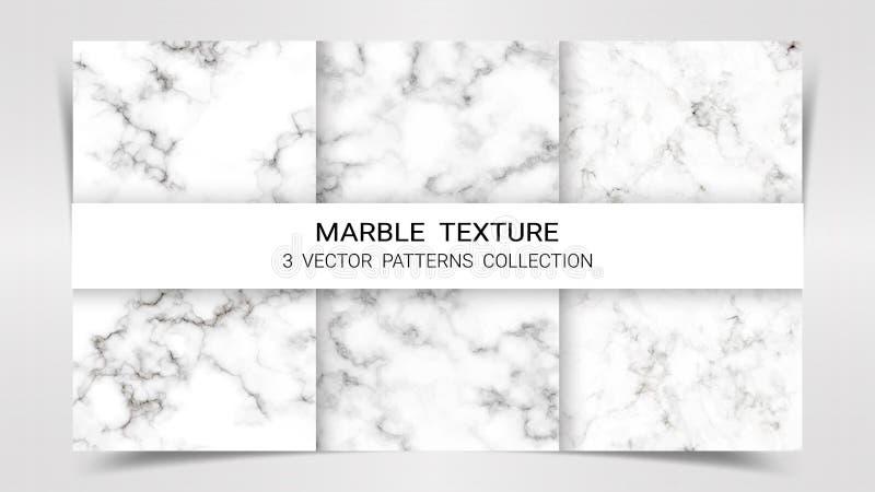 Ambiti di provenienza e strutture dei modelli stabiliti super di marmo raccolta, modello astratto del fondo illustrazione di stock