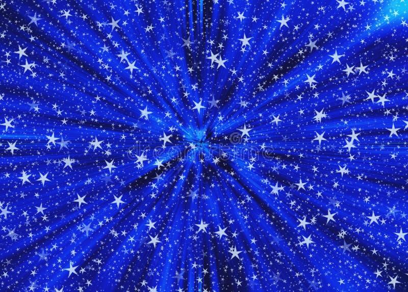 Ambiti di provenienza fantastici di velocità dello spazio delle stelle royalty illustrazione gratis