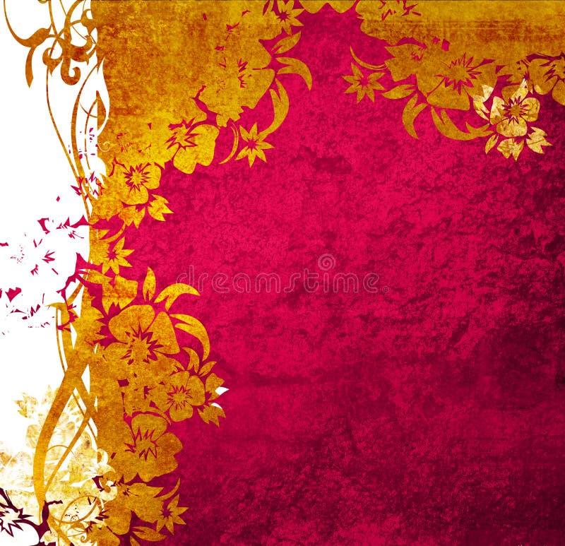 Ambiti di provenienza floreali di stile illustrazione vettoriale
