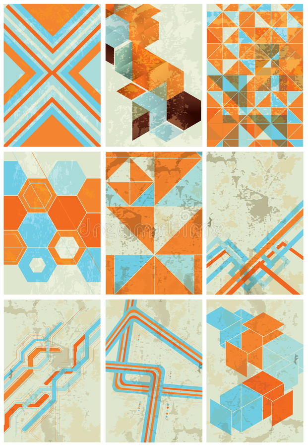 Ambiti di provenienza geometrici minimalisti illustrazione di stock